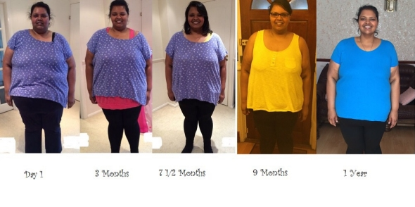 Sara's weight loss journey