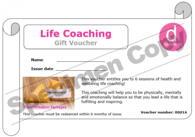 Life Coaching Gift Voucher