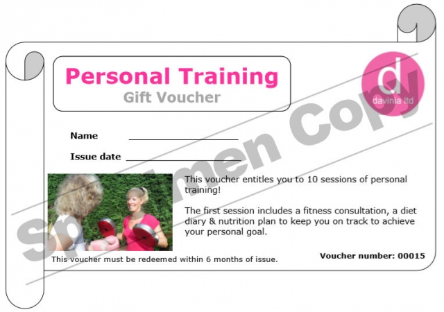 Personal Training Gift Voucher